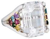 Verdura Platinum Multistone Cocktail Ring