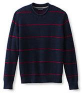 Classic Men's Stripe Shaker Rollneck Sweater-Slate Blue Heather