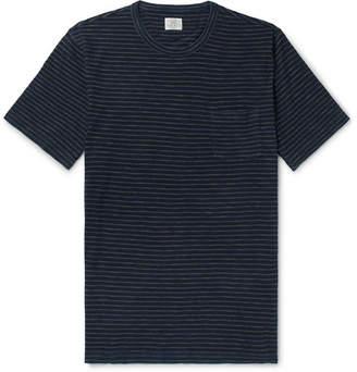 Faherty Indigo-Dyed Striped Cotton-Jersey T-Shirt