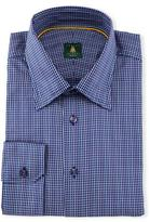 Robert Talbott Mini-Check Woven Dress Shirt, Navy