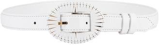 Altuzarra Wrapped Buckle Belt in Optic White   FWRD