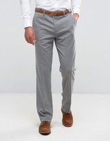 Asos Straight Fit Smart Trousers In Grey