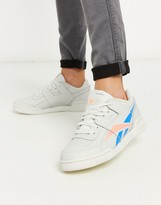 Reebok Classics workout Lo Plus trainers in white & pink blue