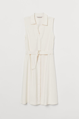 H&M Belted Dress - White
