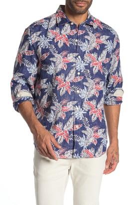 Tommy Bahama Faded Palms Hawaiian Long Sleeve Shirt