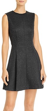 Theory Box Pleat Mini Dress