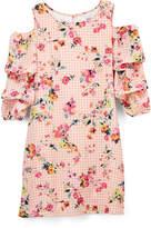 Speechless Pink Floral Cutout Dress