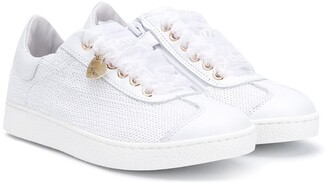 MonnaLisa Sequinned Lace-Up Sneakers