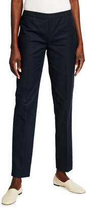 Lafayette 148 New York Bleecker Slim-Leg Ankle Pants, Aquarium