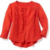 Old Navy Collarless Printed Swing Tunic for Toddler Girls