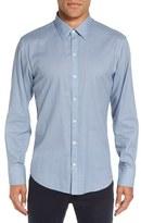 Zachary Prell Men's 'Silvio' Trim Fit Micro Print Sport Shirt