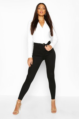 boohoo Butt Shaper High Rise Stretch Skinny Jean
