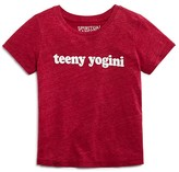 Spiritual Gangster Girls' Teeny Yogini Slubbed Tee - Sizes 2-8