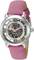 Stuhrling Original Women's 156.121A2 Legacy Automatic Self Wind Pink Satin Twill Covered Strap Watch