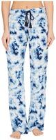 PJ Salvage Blue Batik Tie-Dye Lounge Pants Women's Casual Pants