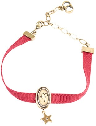 Christian Dior Red Cloth Bracelets