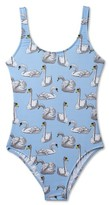 Stella Cove Toddler Girl's Swan Print One-Piece Swimsuit