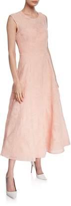Mikael Aghal Cloque Midi Cocktail Dress