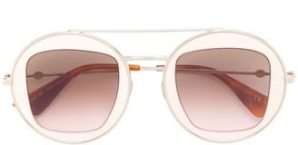 Gucci Round Metal Frame Sunglasses