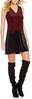 Chelsea & Violet Burnout Velvet V-Neck Sleeveless Dress