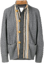 Sacai cotton lace trim fisherman cardigan