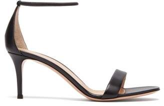 Gianvito Rossi Simple Strap 70 Leather Sandals - Womens - Black
