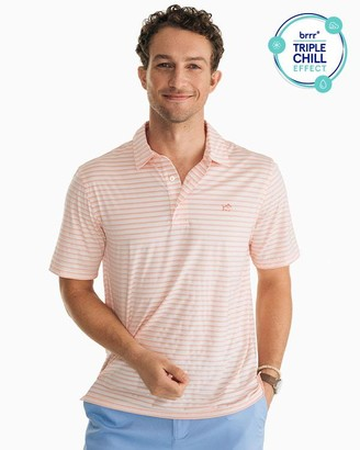 Southern Tide Striped Driver Brrr Performance Polo Shirt