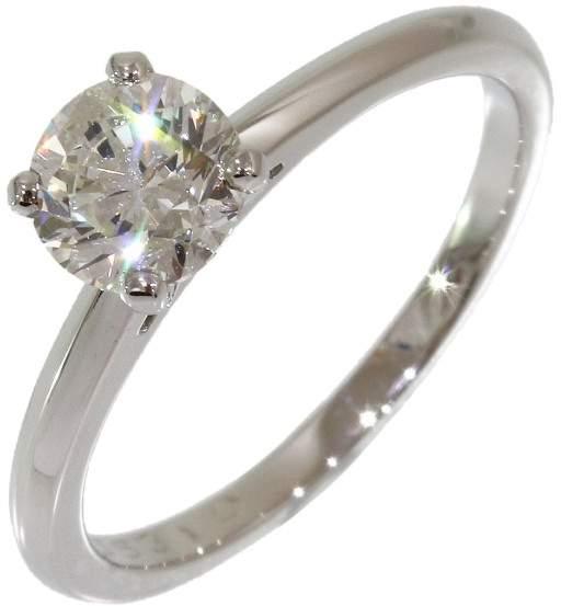 De Beers Platinum Solitaire 0.731ct Diamond Ring Size 5.5