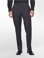 Calvin Klein X Fit Ultra Slim Fit Aubergine Suit Pants