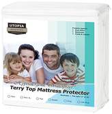 Utopia Bedding Premium Hypoallergenic Waterproof Mattress Protector - Vinyl Free - Fitted Mattress Cover (Queen)