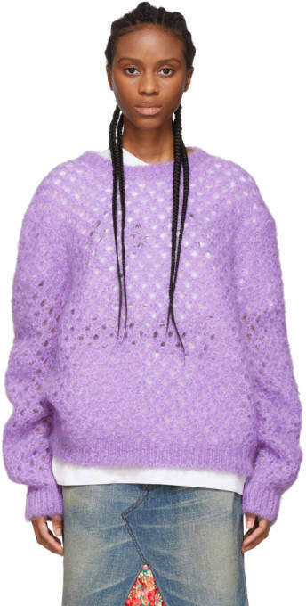 Marc Jacobs Purple Mohair Crewneck Sweater