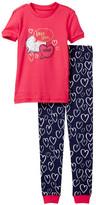Petit Lem Love You More Pajama - 2-Piece Set (Toddler & Little Girls)