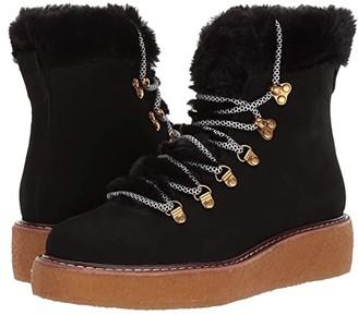 J.Crew Nubuck Crepe Sole Wedge Winter Boot (Black) Women's Shoes