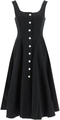 STAUD loretta midi dress