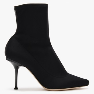 Sergio Rossi Milano 90mm Black Stretch Ankle Boots