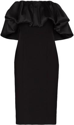 SOLACE London Raina off-shoulder midi dress