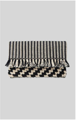Whistles Woven Fringe Clutch
