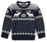 Ralph Lauren Childrenswear Reindeer Cotton-Wool Sweater