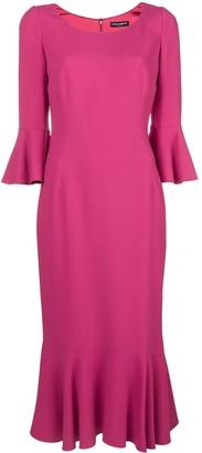Dolce & Gabbana frill-trim midi dress