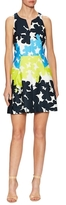 Milly Cotton Floral Print Flared Dress