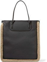 Alexander Wang Prisma shearling-trimmed leather tote