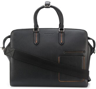 Ermenegildo Zegna Grained Leather Holdall
