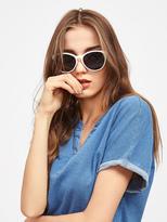 Shein Contrast Frame Cat Eye Sunglasses