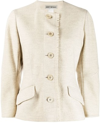 Issey Miyake Pre Owned Round Neck Jacket