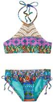 Hobie Girls' Seam Weaver High Neck Bikini Set (714) - 8152019