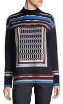Tory Burch Sara Patterned Turtleneck