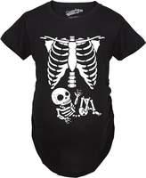 Crazy Dog T-shirts Crazy Dog Tshirts Maternity White Skeleton Rib Cage Halloween T-Shirt Funny Pregnancy Tee XXL