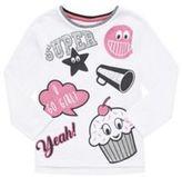 F&F Badge Print Long Sleeve T-Shirt, Girl's