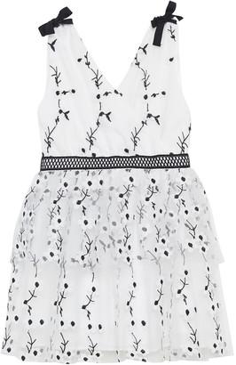 Bardot Junior Carolina Embroidered Mesh Dress, Size 8-16