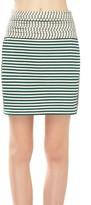 Max Studio Striped Jersey Skirt
